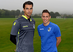 Kelle Roos and Connor Roberts pose at Bristol Rovers Training Ground after signing for Bristol Rovers - Mandatory by-line: Joe Meredith/JMP - 25/08/2016 - FOOTBALL - Bristol Rovers Training Ground - Bristol, England - Bristol Rovers New Signings