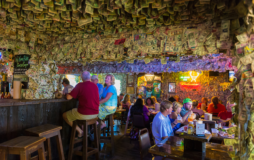 BIG PINE KEY, FL - CIRCA 2012: Patrons on famous No Name Pub circa 2012. The pub is a landmark in the Florida Keys, a popular tourist destination with over 2 million yearly visitors.