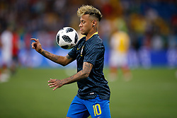 June 17, 2018 - Rostov Do Don, Rússia - ROSTOV DO DON, RO - 17.06.2018: BRAZIL VS SWITZERLAND - Neymar Jr. of Brazil during warm-up match between Brazil and Switzerland valid for the first round of group E of the 2018 World Cup, held at the Rostov Arena in Rostov on Don, Russia. (Credit Image: © Marcelo Machado De Melo/Fotoarena via ZUMA Press)