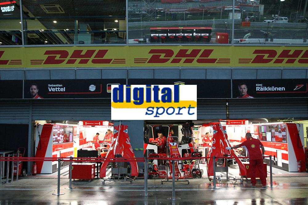 Box Ferrari<br /> Monza 30-08-2018 GP Italia <br /> Formula 1 Championship 2018 <br /> Foto Federico Basile / Insidefoto