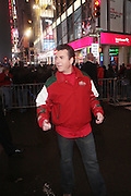 31 December 2009- New York, New York- John Schnaffer, (owner Papa John's) on New Years Eve in 42 street area of Times Square. Photo Credit: Terrence Jennings/SIPA USA