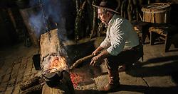 Seu Nenê, Gilberto Nascimento, o guarda da Chama Crioula - O revezamento da Tocha Olímpica passa  na Fazenda Boqueirão, Vila Block, em São Sepé, RS, onde encontra a Chama Crioula, fogo centenário desde a Revolução Farroupilha (1835-1845).  Aceso em 21 de abril, em ritual repetido a cada quatro anos em Olímpia, na Grécia, o símbolo olímpico passará por 28 cidades gaúchas de 3 a 9 de julho e será conduzido por 617 indicados no Rio Grande do Sul, começando por Erechim e se despedindo em Torres, em percurso de mais de dois mil quilômetros. Foto: Gustavo Roth / Agência Preview