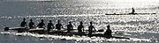 Hamilton, New Zealand, 2010  World Rowing Championships,  Lake Karapiro, Crews approaching Pontoon, Sunday  31/10/2010.  [Mandatory Credit Karon Phillips/Intersport Images] Sunrise, Sunsets, Silhouettes