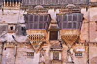 Inde, Gujarat, region du Kutch, Bhuj, Darbargadh, le Prag Mahal // India, Gujarat, Kutch, Bhuj, Darbargadh, Prag Mahal