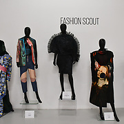 Exhibition at Fashion Scout Ones To Watch - SS20 Day 1 at London Fashion Week - Day 1 on 13 September 2019, London, UK