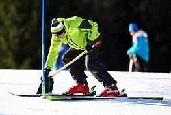 Worker on course during Men's Slalom - Pokal Vitranc 2014 of FIS Alpine Ski World Cup 2013/2014, on March 9, 2014 in Vitranc, Kranjska Gora, Slovenia. Photo by Matic Klansek Velej / Sportida
