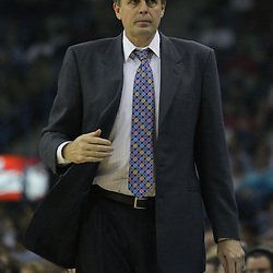 08 February 2009: Minnesota Timberwolves coach Kevin McHale watches his team during a NBA game between the Minnesota Timberwolves and the New Orleans Hornets at the New Orleans Arena in New Orleans, LA.