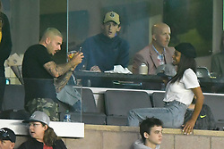 Exclusive - Matt Pokora and Christina Milian attend the MLS game Los Angeles Galaxy v Sporting Kansas City in Los Angeles on April 8, 2018. NO CREDIT a3
