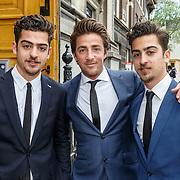 NLD/Amsterdam/20150620 - Huwelijk Kimberly Klaver en Bas Schothorst, oa Marius en broer Jasper Gottlieb