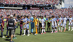July 8, 2017 - Nashville, TN, USA - Nashville, TN - Saturday July 08, 2017: Panama during a 2017 Gold Cup match between the men's national teams of the United States (USA) and Panama (PAN) at Nissan Stadium. (Credit Image: © John Dorton/ISIPhotos via ZUMA Wire)
