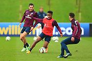 Raheem Sterling of England - England Training & Press Conference - UEFA Euro 2016 Qualifying - St George's Park - Burton-upon-Trent - 11/11/2014 Pic Philip Oldham/Sportimage