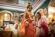 According to religious belief, after the puja, the divinity of the goddess descends into the Kumari.