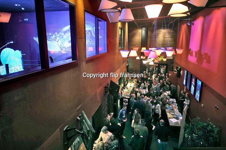 Nederland, Nijmegen, 30-11-2019De hal, entree, van popcentrum Doornroosje .Roosje heeft twee zalen, een cafe  en een kleine theetuin.Foto: Flip Franssen