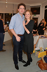 PRINCESS BEATRICE VON PREUSSEN and CHRISTOPHER RAYMOND at an exhibition of works by Beatrice von Preussen held at The Gallery on The Corner, 155 Battersea Park Road, London SW8 on 11th December 2013.