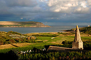 A general view of Hawkers Cove and the 11th hole, Par 3, showing St Enodoc Church at St Enodoc Golf Club, Rock, Cornwall. Course design by James Braid... (Picture Credit: Phil Inglis)