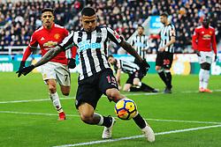 Kenedy of Newcastle United clears the ball - Mandatory by-line: Matt McNulty/JMP - 11/02/2018 - FOOTBALL - St James Park - Newcastle upon Tyne, England - Newcastle United v Manchester United - Premier League
