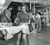 1950s Ironing and doing laundry at the Hollywood Studio Club