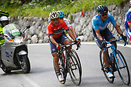 Domenico Pozzovivo (ITA - Bahrain - Merida) during the 101th Tour of Italy, Giro d'Italia 2018, stage 15, Tolmezzo - Sappada 178 km on May 20, 2018 in Italy - Photo Luca Bettini / BettiniPhoto / ProSportsImages / DPPI