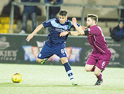 Forfar Athletic's Lewis Milne and Arbroath's Mark Whatley. Forfar Athletic 0 v 1 Arbroath, Scottish Football League Division Two game played 10/12/2016 at Station Park.