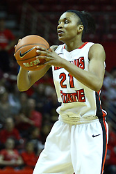 24 March 2011: Kenyatta Shelton during a WNIT (Women's National Invitational Tournament Women's basketball sweet 16 game between the Duquesne Dukes and the Illinois State Redbirds at Redbird Arena in Normal Illinois.