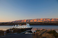 National Geographic Sea Lion's trip to the Eastern Columbia River Gorge. The Sea Lion at sunset in The Dalles.