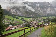 Town in the Lauterbrunnen Valley, Via Alpina, Swiss Alps