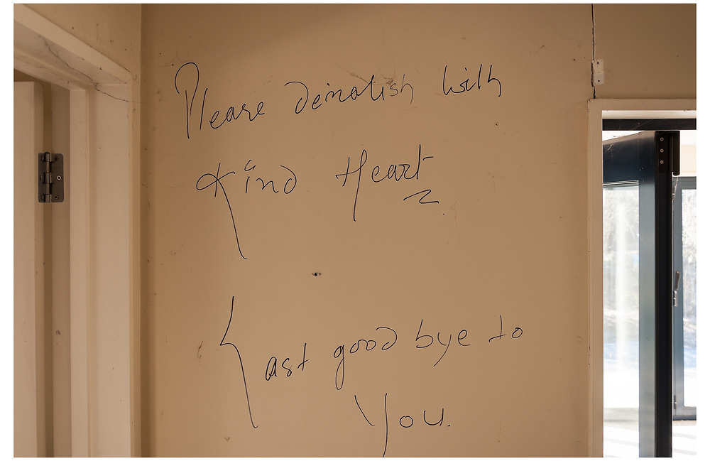 Written on the wall of his home as he left for the final time, Pemba Lama decided to leave this poignant message that later became the title to my book.