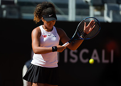 May 16, 2019 - Rome, ITALY - Naomi Osaka of Japan in action during her second-round match at the 2019 Internazionali BNL d'Italia WTA Premier 5 tennis tournament (Credit Image: © AFP7 via ZUMA Wire)