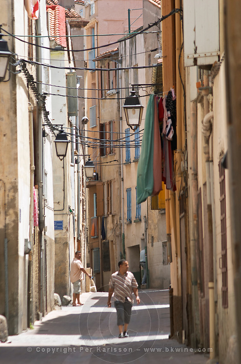 Street in the old town. Perpignan, Roussillon, France.