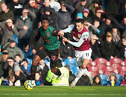 Kortney Hause of Aston Villa (L) and Dwight McNeil of Burnley Aston Villa - Mandatory by-line: Jack Phillips/JMP - 01/01/2020 - FOOTBALL - Turf Moor - Burnley, England - Burnley v Aston Villa - English Premier League