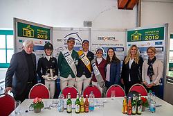 Pressekonferenz Grosser Preis<br /> Redefin - Pferdefestival 2019<br /> Großer Preis der Deutschen Kreditbank AG<br /> BEMER Riders Tour - Wertungsprüfung<br /> Große Tour – Finale: Int. Weltranglisten-Springprüfung (1,60m) mit zwei Umläufen<br /> 26. Mai 2019<br /> © www.sportfotos-lafrentz.de/Stefan Lafrentz