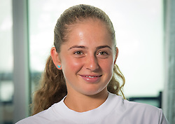 August 11, 2018 - Jelena Ostapenko of Latvia during a video shoot for the USTA at the 2018 Western & Southern Open WTA Premier 5 tennis tournament. Cincinnati, USA, August 11, 2018 (Credit Image: © AFP7 via ZUMA Wire)