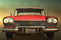 Yes, you can technically call this Plymouth an old-timer. There is no question that it is a truly remarkable, decidedly classic automobile. However, as any expert on classic cars will tell you, the truly great vehicles have an element of timelessness to them. This car certainly doesn't look like its glory days are long gone. Perhaps, it is existing in those moments at the moment of the piece itself. Perhaps, someone has restored it to show the cars of today what an original looks like. This classic piece of an iconic car is available as wall art, t-shirts, or as interior décor products.<br />
