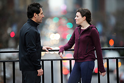 """EXCLUSIVE: Paul Rudd, Asling Bea film """"Living With Yourself"""". 17 Dec 2018 Pictured: Paul Rudd, Aisling Bea. Photo credit: SteveSands/NewYorkNewswire/MEGA TheMegaAgency.com +1 888 505 6342"""