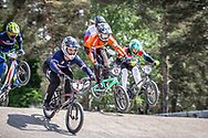 #2 (ANDRE Sylvain) FRA and #12 (BENSINK Niels) NED at Round 5 of the 2018 UCI BMX Superscross World Cup in Zolder, Belgium