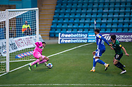 GOAL 1-0: Gillingham FC forward Vadaine Oliver (19)<br /> scores a GOAL 1-0 during the EFL Sky Bet League 1 match between Gillingham and Rochdale at the MEMS Priestfield Stadium, Gillingham, England on 23 January 2021.