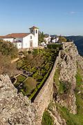Formal garden historic castle medieval village of Marvão, Portalegre district, Alto Alentejo, Portugal, Southern Europe