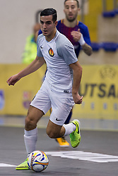 November 22, 2017 - Pescara, PE, Italy - Iliass Bouzit of 't Knooppunt in action during the Elite Round of UEFA Futsal Cup 17/18 match between FC Barcelona and ZVV 'T Knoppount at Giovanni Paolo II arena on November 22, 2017 in Pescara, Italy. (Credit Image: © Danilo Di Giovanni/NurPhoto via ZUMA Press)