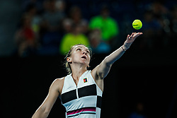 January 18, 2019 - Melbourne, VIC, U.S. - MELBOURNE, VIC - JANUARY 17: SIMONA HALEP (ROU) during day four match of the 2019 Australian Open on January 17, 2019 at Melbourne Park Tennis Centre Melbourne, Australia (Photo by Chaz Niell/Icon Sportswire) (Credit Image: © Chaz Niell/Icon SMI via ZUMA Press)