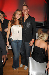 CHELSEA TYLER and her boyfriend SAM at the M.A.C. Viva Glam party featuring a performance by Dita Von Teese of 'Lipteese' held at the Bloomsbury Ballroom, Victoria House, Bloomsbury Square, London on 27th June 2007.<br />