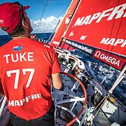 Leg 8 from Itajai to Newport, day 04 on board MAPFRE,Blair Tuke. 25 April, 2018.