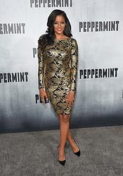 August 30, 2018 - Los Angeles, California, USA - 8/28/18.Claudia Jordan at the premiere of ''Peppermint'' held at the Regal Cinemas LA Live in Los Angeles, CA, USA. (Credit Image: © Starmax/Newscom via ZUMA Press)
