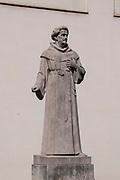 Abraham a Sancta Clara monument at the burggarten in Vienna, Austria