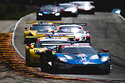 August 5 2018: IMSA Weathertech Continental Tire Road Race Showcase. 66 Ford Chip Ganassi Racing, Ford GT, Joey Hand, Dirk Mueller