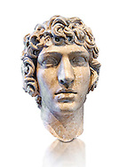 Roman Bust of Antinous - late Hadrianic period circa 130-138AD. Antinous was the young Bithynian favoured by the emperor Hadrian who was deified after drowning under mysterious circumstances in the waters of the Nile circa 130AD. Thanks to the promotion of the cult Antinous portraits can be found throughout the Empire in the places most frequented by Hadrian. National Roman Museum, Rome, Italy