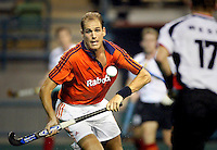 WK Hockey. Nederland-Duitsland 0-1. P iet Hein Geeris  geconcentreerd aan de bal tegen Duitsland.