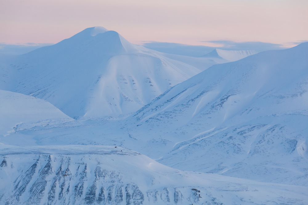 Moysalen, Svalbard at dusk.
