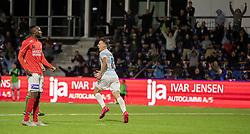 Sebastian Czajkowski (FC Helsingør) jubler efter scoringen til 3-0 under kampen i 1. Division mellem FC Helsingør og Silkeborg IF den 11. september 2020 på Helsingør Stadion (Foto: Claus Birch).