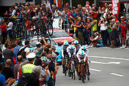 Team Sky during the 2018 UCI Road World Championships, Men's Team Time Trial cycling race on September 23, 2018 in Innsbruck, Austria - Photo Luca Bettini / BettiniPhoto / ProSportsImages / DPPI