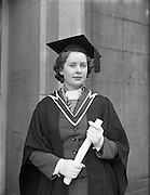 Conferring of Degrees at UCD .30/10/1958